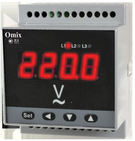 Вольтметр трехфазный на DIN-рейку Omix D4-V-3-0.5-TrueRMS