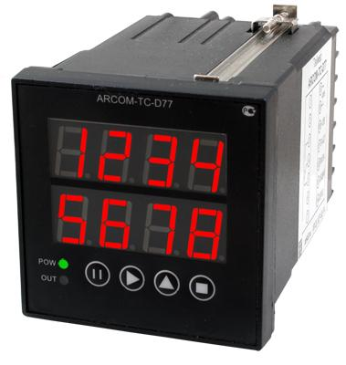 Универсальное реле времени-счетчик импульсов-времени наработки-тахометр ARCOM-TC-D77