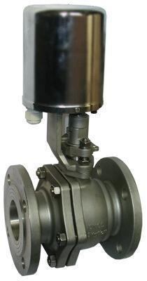 Кран шаровой регулирующий фланцевый с электроприводом, для пара AR-GH100-5