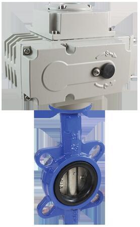 Дисковый поворотный затвор КПР-Б7 с электроприводом ЭПР3