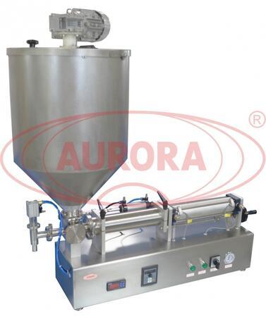 Полуавтоматический дозатор с рубашкой подогрева и мешалкой МД-500М1 для продуктов кремовой консистенции