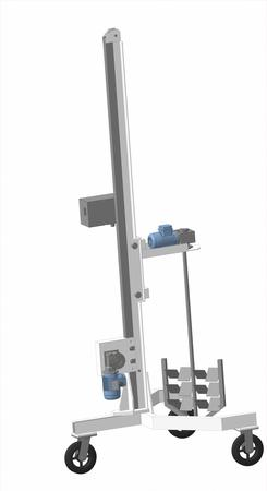 Установка перемешивания с рамной мешалкой и гомогенизатором УП-200