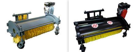Щетка с автономным двигателем и системой полива для тракторов без гидросистемы
