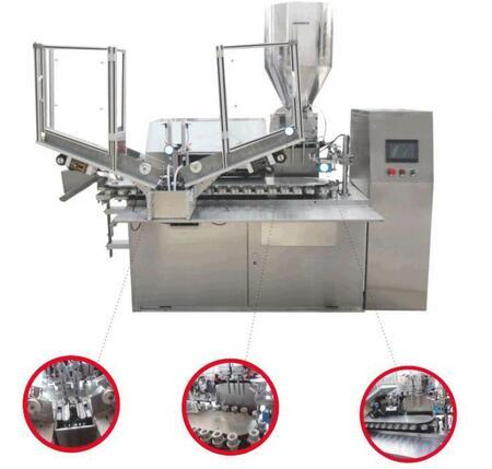 Автоматический моноблок (6000 в час) фасовки алюминиевых туб «Мастер» МЗ-400ЕД