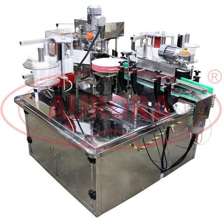 Этикетировочный комплекс АЭ-5 для нанесения этикетки на цилиндрические и плоские флаконы