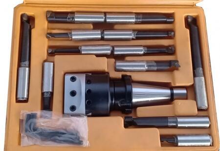 Расточная головка(с набором расточных резцов из 12 шт.) конус  ISO30