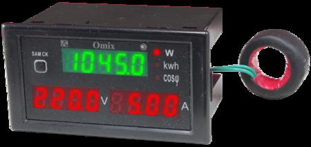 Мультиметр однофазный щитовой Omix P74-M3-1