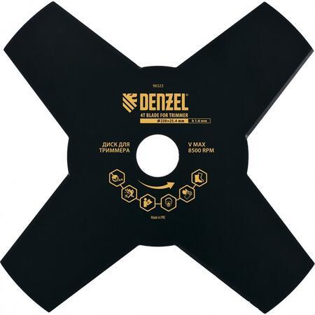 Диск для триера, 230 х 25,4 , толщина 1,6 , 4 лезвия Denzel