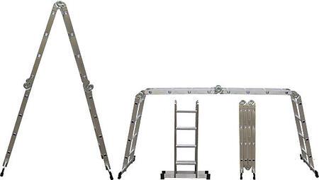 Лестница-трансформер алюминиевая, 4 секции х 3 ступени, вес 11,2 кг