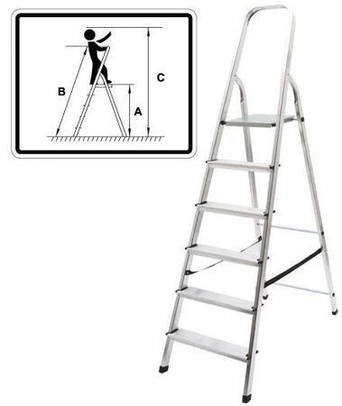 Лестница-стремянка алюминиевая, 5 ступеней, вес 3,6 кг