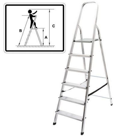 Лестница-стремянка алюминиевая, 4 ступени, вес 3,0 кг