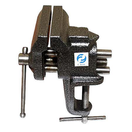 Тиски Слесарные   75 мм неповоротные настольные с наковальней, крепление струбциной