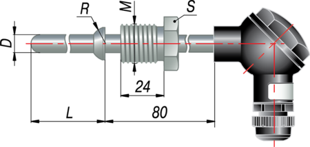 Термопара с коммутационной головкой дТП215 МГ
