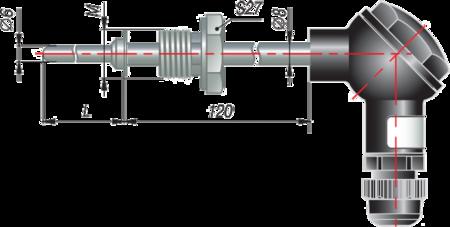 Термопара с коммутационной головкой дТП265 МГ