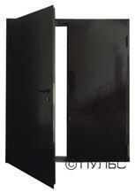 Дверь противопожарная дпм-02/60 (ei 60) двупольная, левая (рабочая створка 900 мм.)