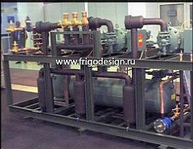 Холодильные центральные многокомпрессорные станции на базе винтовых компрессоров BITZER.