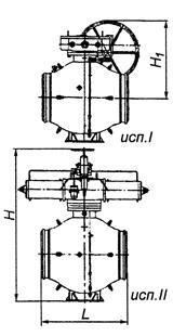 Кран шаровый 11лс(6)745п для наземной или подземной установки с концами под приварку
