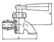 Кран пробно-спускной 10б8бк1 с изогнутым спуском цапковый