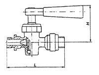 Кран пробно-спускной 10б19бк1 с прямым спуском и ниппелем цапковый