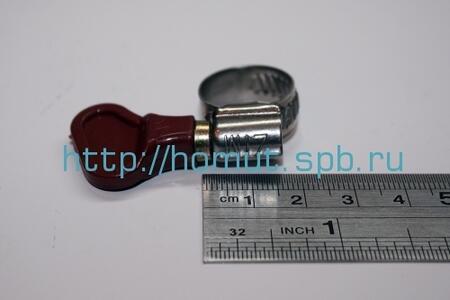 Хомуты с пластмассовой ручкой-бабочкой (Китай) нержавеющая сталь