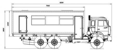 Автобус специальный 4240 (на шасси КАМАЗ-43118, 6х6)