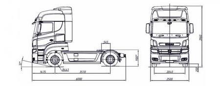 Магистральный тягач КАМАЗ-5490 (4х2)