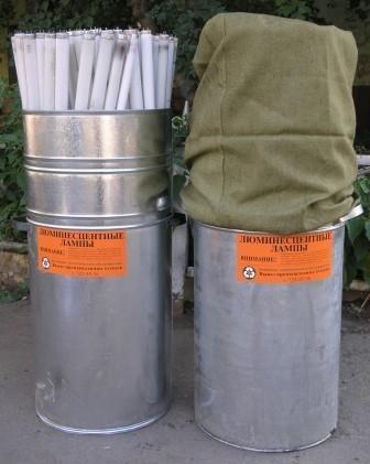 Контейнер для хранения и транспортировки люминесцентных ламп (объем 130-180шт. / 300-400 шт.).
