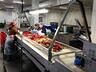 Линия мойки и инспекции овощей, фруктов и ягод.