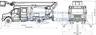 Автогидроподъёмник телескопический ГАЗ-C41R13 ГАЗон Next Тайга с двухрядной 4-дверной кабиной