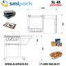Ручная колпаковая термоупаковочная машина Smipack SL-45