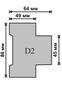 Вольтметр цифровой Omix D2-V-1-0.5