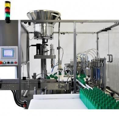 Моноблок розлива и укупорки кислот, агрессивных и легковоспламеняющихся продуктов вязкой консистенции «МАСТЕР» МЗ-400ЕД