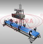 Автоматический линейный запайщик пакетов с ленточным транспортером МЗ-400РЗ