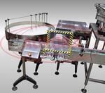 Автоматическая линия розлива краски с ориентатором, укупором и аппликатором этикеток