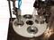 Полуавтоматическая машина наполнения и запайки ПЭТ стаканчиков со шнековым дозатором
