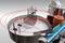 Линия этикетировки и датировки цилиндрической тары АЭ-5 универсал
