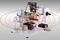 Полуавтоматический этикетировщик (для канистр) с датировщиком АЭ-4М