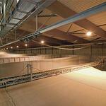 Транспортёр цепной распределительный «скрепер» для складов напольного хранения LBDA
