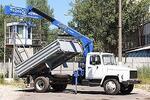 Самосвал c трехсторонней разгрузкой ГАЗ-3309 с Tadano