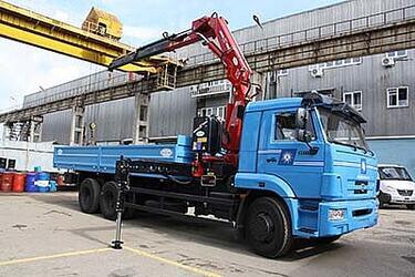 КАМАЗ-65117 с КМУ Amco Veba