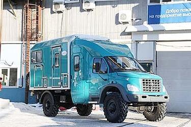 """Автомобиль ГАЗ-33081 """"Тайга"""" с вахтовым фургоном"""