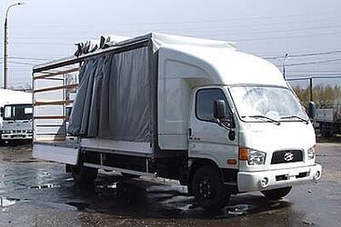 Бортовой автомобиль Hyundai-78 с закабинным спальником