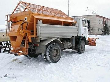 Пескоразбрасыватель на а/м КАМАЗ 5511/55111 - МАЗ 5551 10 тонн
