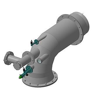 Горелка комбинированная газовая, жидкостная с рециркуляционным устройством ГГРУ-100