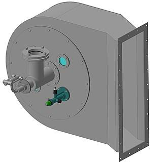 Горелка комбинированная газовая, жидкостная с рециркуляционным устройством ГГРУ-2500