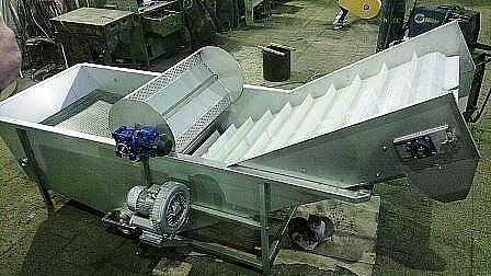Моечная вентиляторная (барботажная) машина для фруктов и овощей