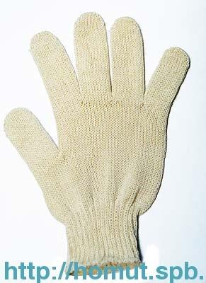 Перчатки 4 нити 10 кл. белые