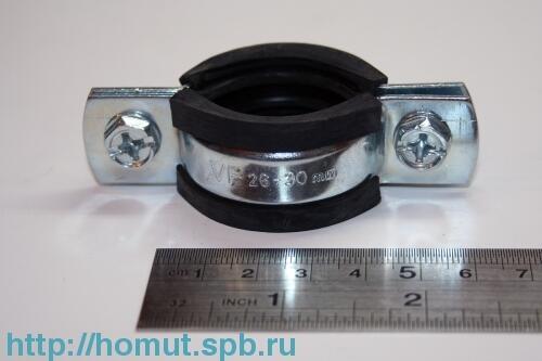 "Хомут трубный W1 М8 26-30 (3/4"")"