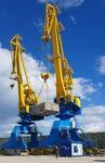 В новом речном порту поселка Пеледуй на реке Лена сданы в эксплуатацию портальные краны «Зубр»
