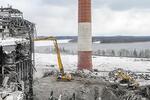 Техника Liebherr помогла осуществить снос устаревшего энергоблока Нижнетуринской ГРЭС